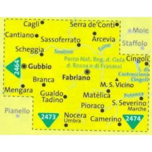 212 2465 2 Kompass Carta 2465 Cagli, Fabriano, San Severino Marche 1 50000 500×500