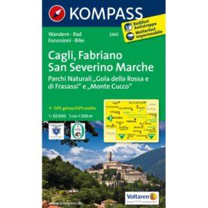 212 2465 Kompass Carta 2465 Cagli, Fabriano, San Severino Marche 1 50000 500×500